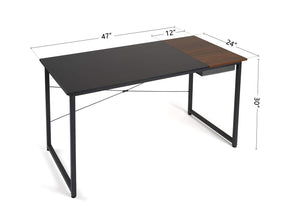 black computer desk with drawer