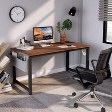 "Load image into Gallery viewer, Cubiker 47""Writing Computer Desk with Extra Strong Legs, Espresso color"
