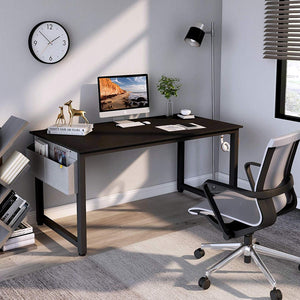 "Cubiker 63""Writing Computer Desk with Extra Strong Legs, Black color"