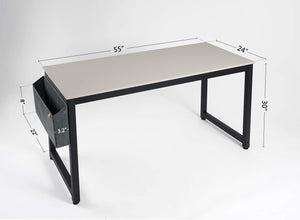 "Cubiker 63""Writing Computer Desk with Extra Strong Legs, White color"