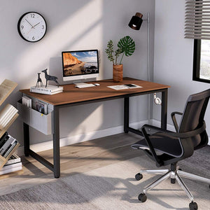 "Cubiker 55""Writing Computer Desk with Extra Strong Legs, Espresso color"