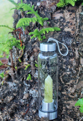 Crystal Water Bottle - Lemon Quartz Point