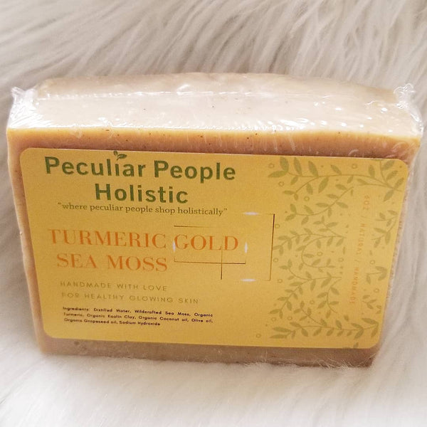 6oz Turmeric Gold Moss Bar - Peculiar People Holistic