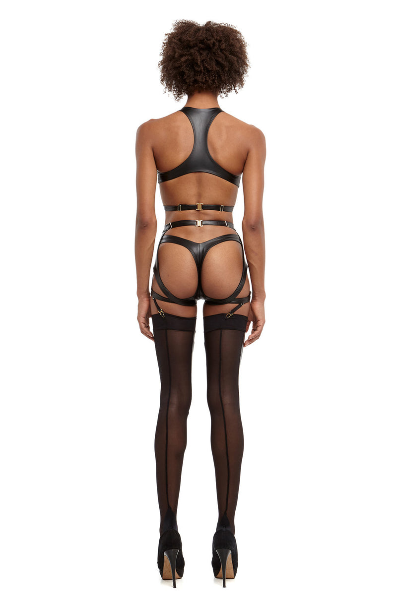 1515 Maya Suspender Belt / Vegan Leather