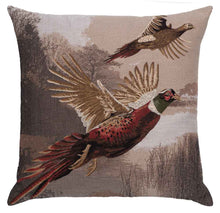 Load image into Gallery viewer, Flying Pheasants tapestry cushion