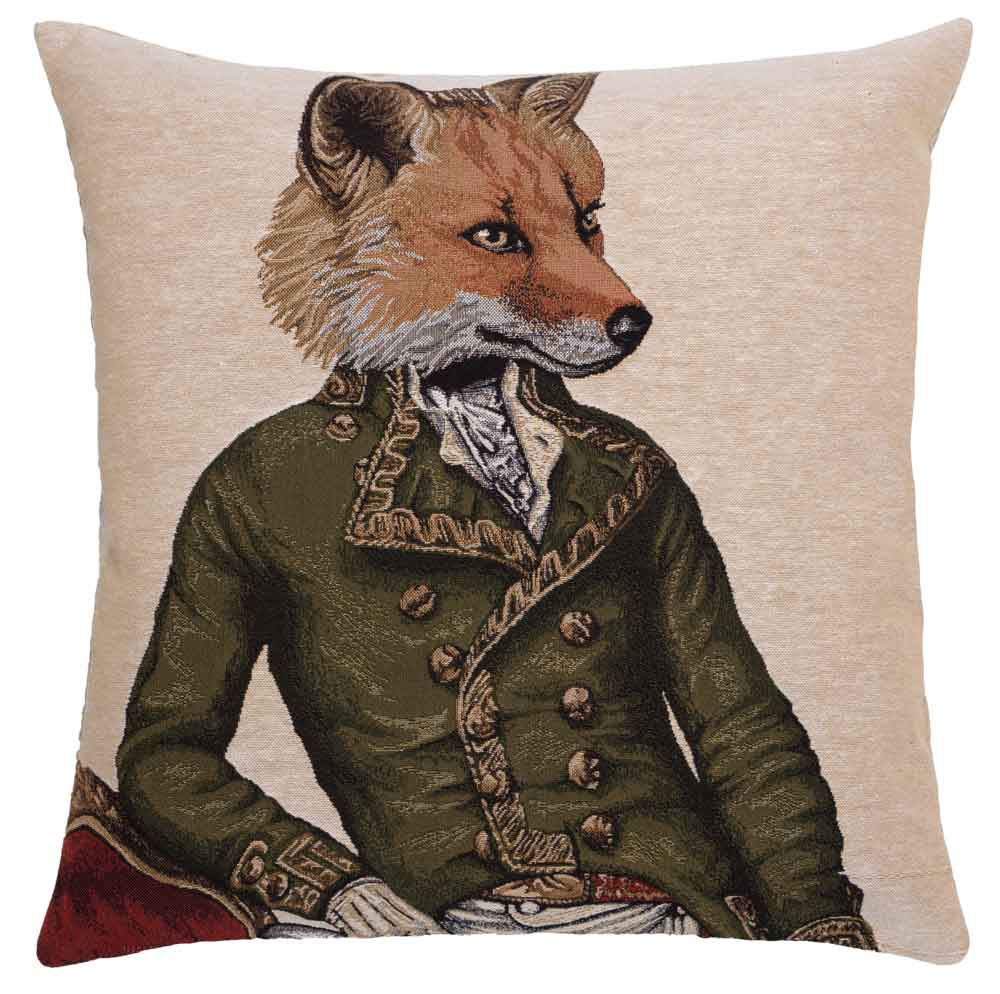 Master Fergus Fox tapestry cushion