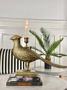 Kubo Bird Candle Holder - Brass