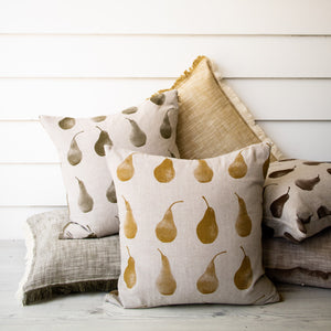 Pear Cushion Mustard