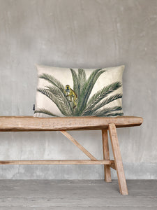 Monkey Palm - Printed Velvet Cushion