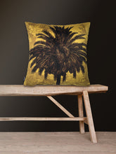 Load image into Gallery viewer, Mustard Palm - Printed Velvet Cushion