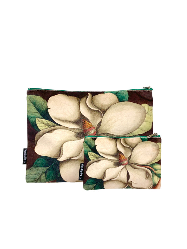 White Magnolia - Makeup Bag & Purse Set