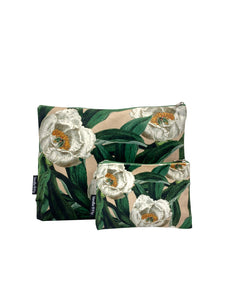 Tree Peony - Makeup Bag & Purse Set
