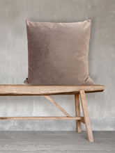 Load image into Gallery viewer, Taupe Velvet Cushion by Vanilla Fly