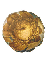 Load image into Gallery viewer, Helichchrysum round printed Velvet Cushion by Vanilla Fly