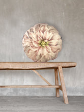 Load image into Gallery viewer, Dahlia round Printed Velvet Cushion by Vanilla Fly