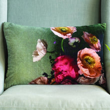 Load image into Gallery viewer, Velvet Cushion - Poppies