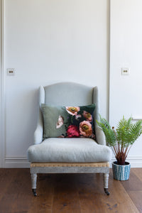 Velvet Cushion - Poppies