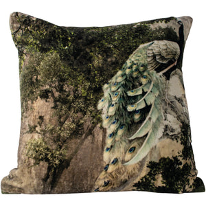 Velvet Cushion - Peacock