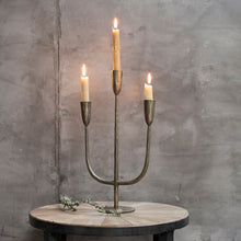 Load image into Gallery viewer, Mbata Brass Candelabra by Nkuku