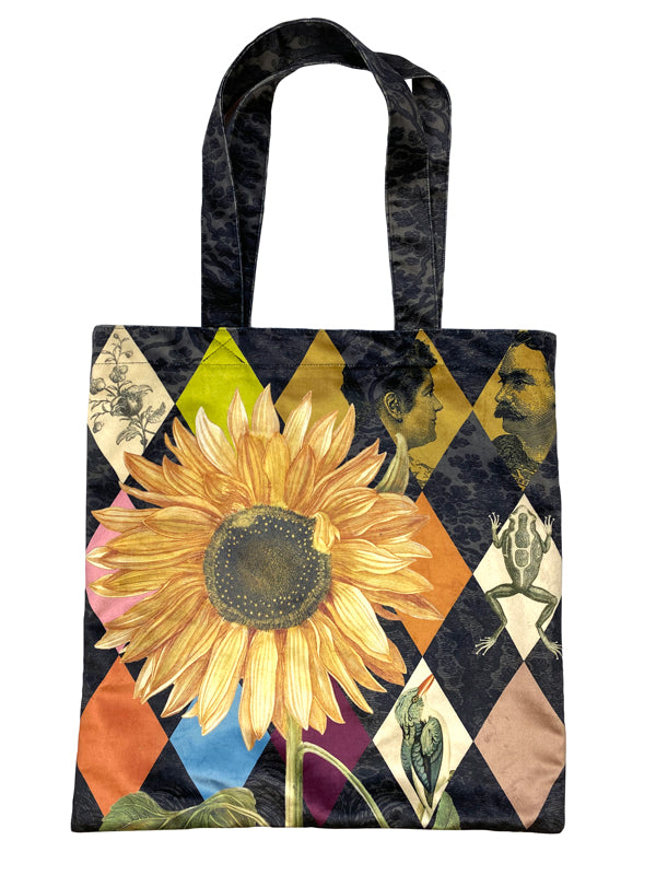 Sunflower - Heavy Velvet Tote Bag