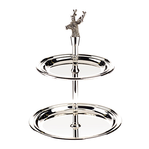 Bon Bon stand with silver plated stag head