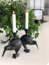 Load image into Gallery viewer, Kiwi Bird Candle Holder - Black