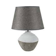 Load image into Gallery viewer, Stoneware Cali Lamp with Grey Shade
