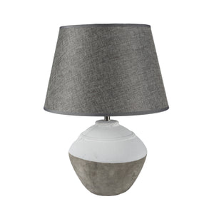Stoneware Cali Lamp with Grey Shade