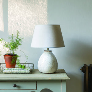 Stoneware Lamp Prima with light grey shade