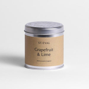 Grapefruit & Lime Scented tin candle by St Eval