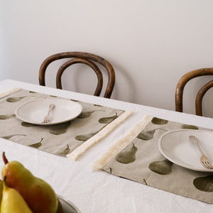 Copy of Pear Placemats Set of 4 (Double Layer) Earth