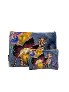Jungle Leopard - Makeup Bag & Purse Set