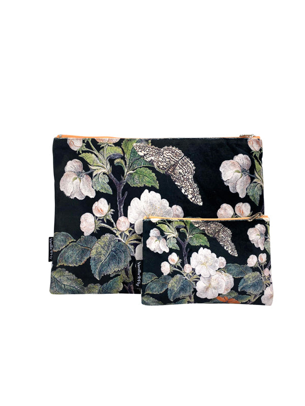 Appleblossom Black - Makeup Bag & Purse Set