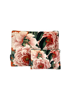 Pink Peony - Makeup Bag & Purse Set