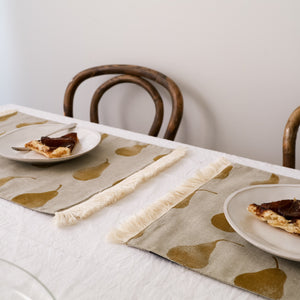 Pear Placemats Set of 4 (Double Layer) Mustard