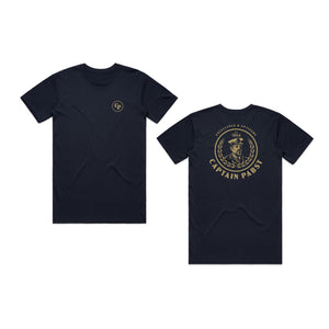 CAPTAIN TEE - (NAVY)