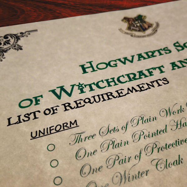 Harry Potter PERSONALIZED  Hogwarts Acceptance Letter & Express Ticket