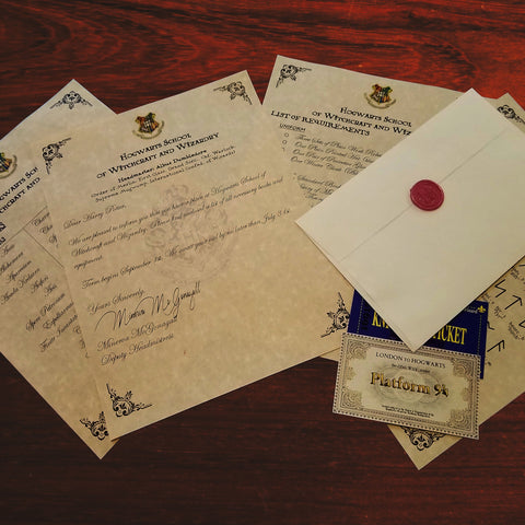 Harry Potter Acceptance Letter - Written With Calligraphy Pen