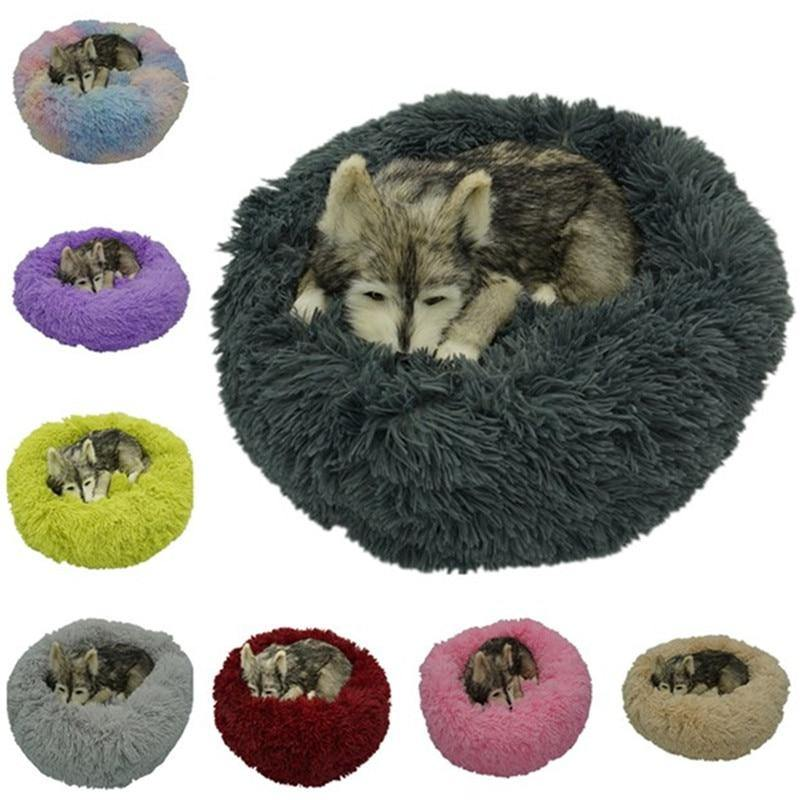 Round Super Soft Dog Bed - eVariah Shop