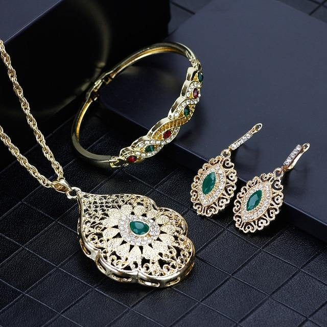 Arabic Design Necklace Jewelry Sets - eVariah Shop