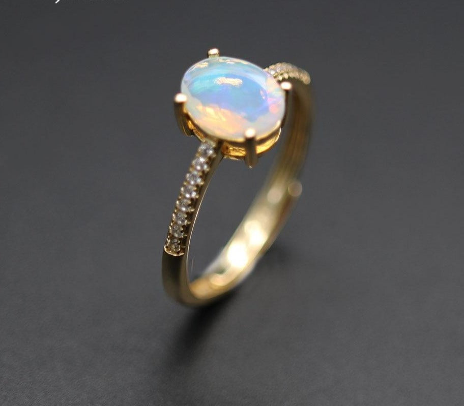 Opal Ring Natural Ethiopia oval