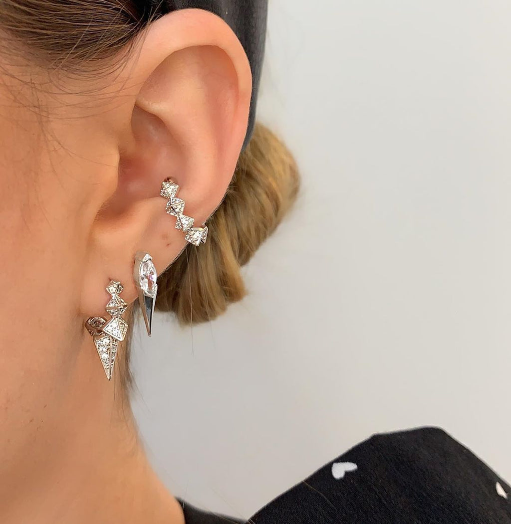 Rivet Spiked Geometric Earring