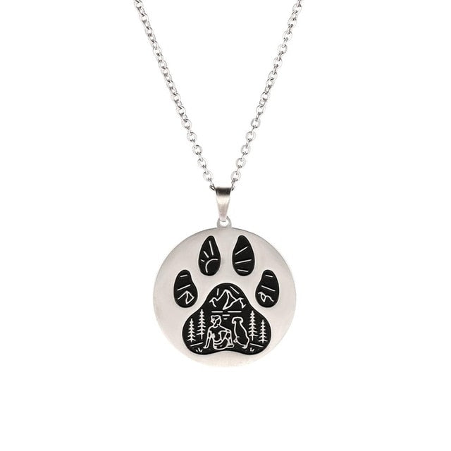 Dog-Cat Paw Claw Pendant Necklace