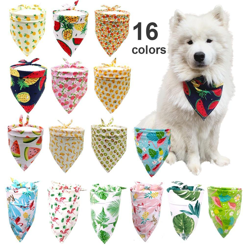 Adjustable Fruit Print Pet-Dog Bandana - eVariah Shop