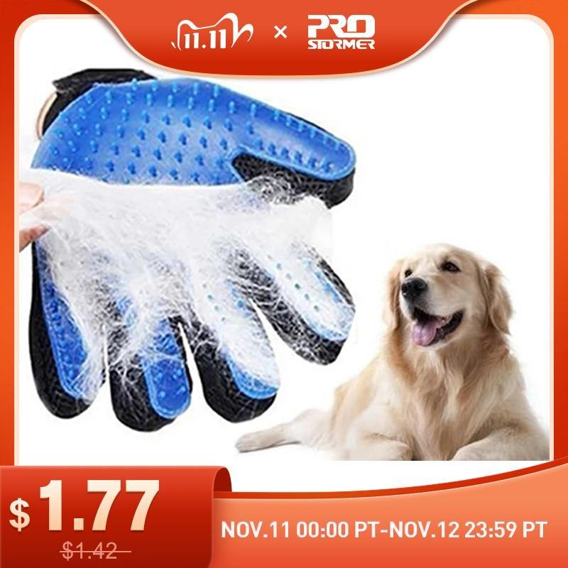 Dog Glove Silicone Brush - Pet Grooming Glove - Deshedding Hair Gloves - eVariah Shop