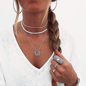 Multi layer Choker Necklaces - Multiple Styles