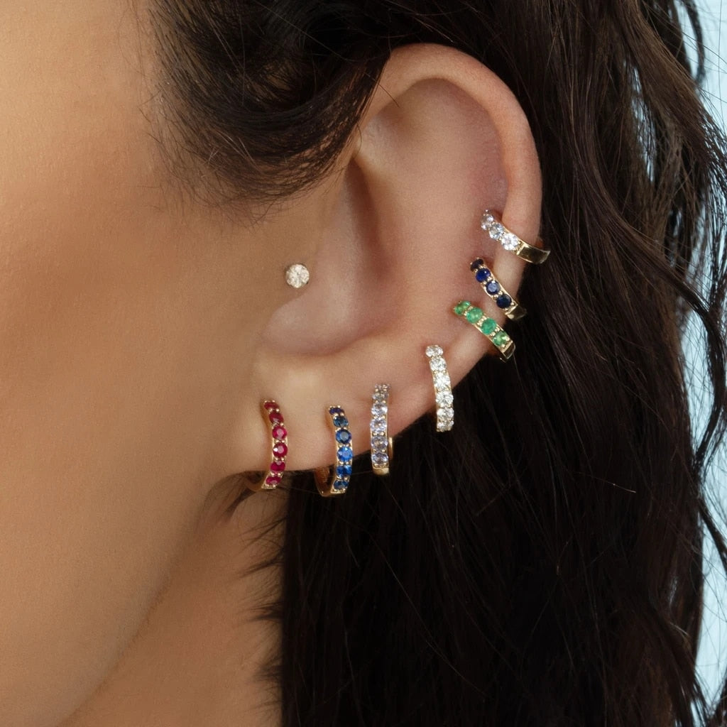 Multicolor Round Hoop Earrings