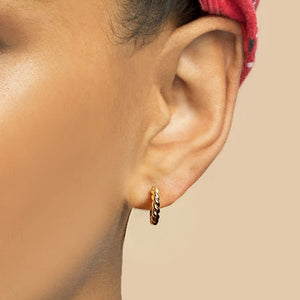Minimalist Twisted Small Hoop Earrings
