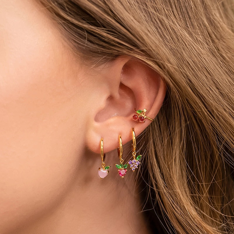 Fruit Cartilage Drop Earrings