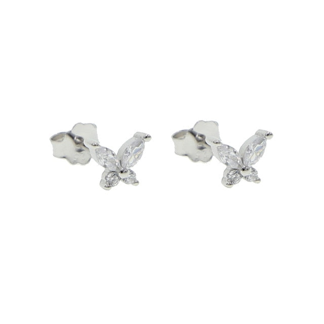 Minimalist Sterling Butterfly Earrings